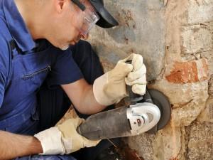 Ouverture mur porteur avec scie