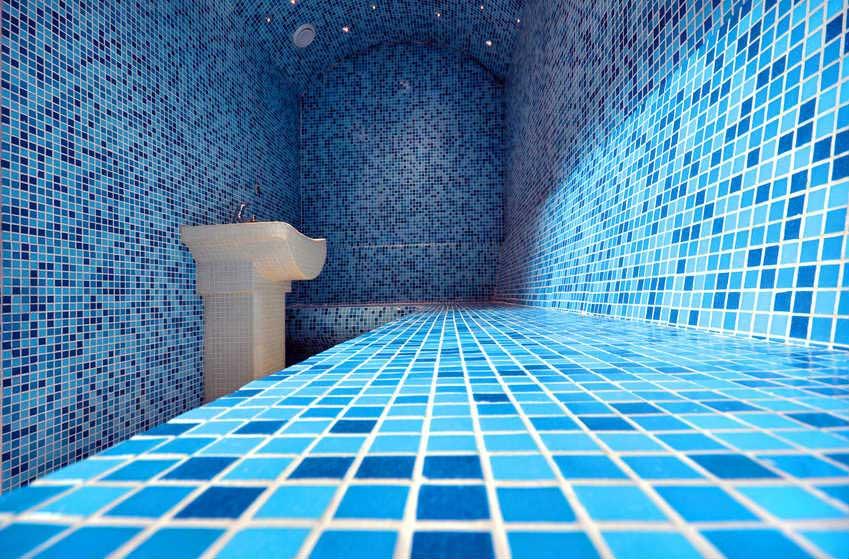 Installation et prix d un hammam sauna for Salle de bain vert d eau