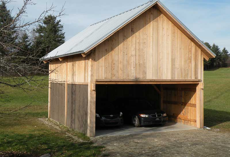 Prix de construction d un garage en bois for Prix construction
