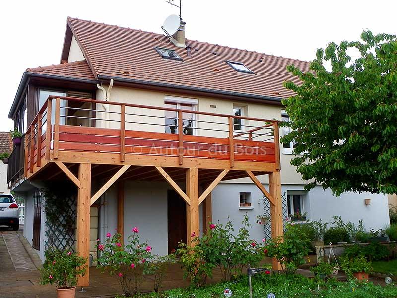 Prix au m2 d'une terrasse bois sur pilotis