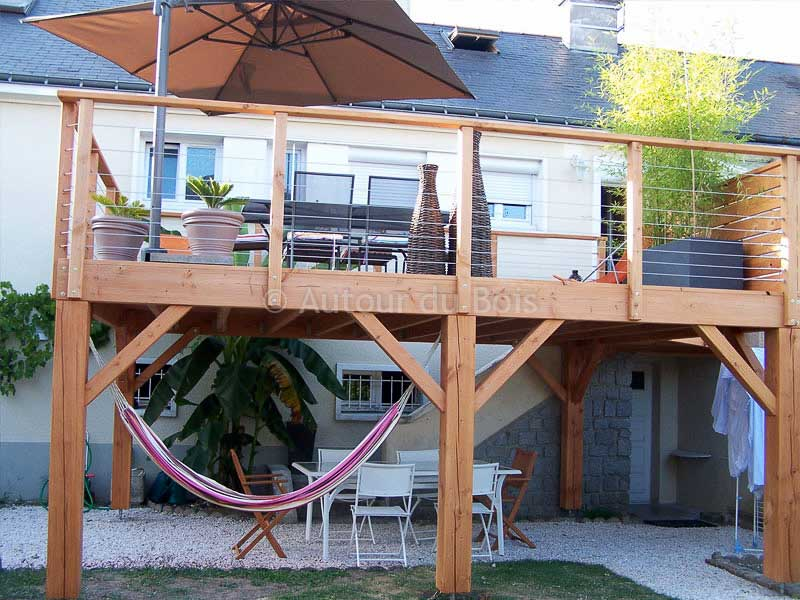 une terrasse bois suspendue ? La terrasse en hauteur ou terrasse