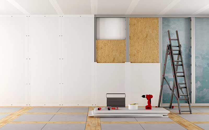 mat riaux pour monter une cloison. Black Bedroom Furniture Sets. Home Design Ideas