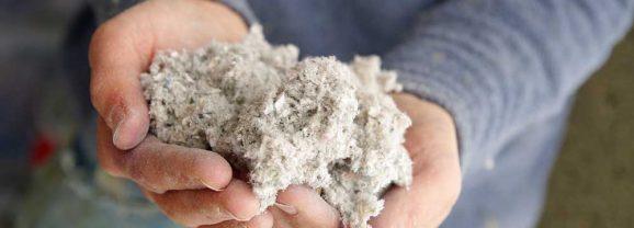 Poser de la ouate de cellulose