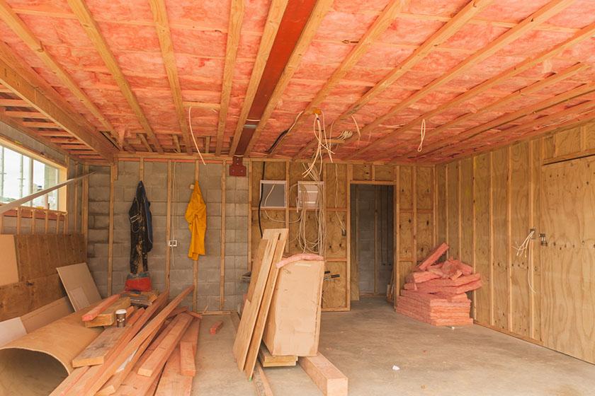 isolation phonique d'un plafond