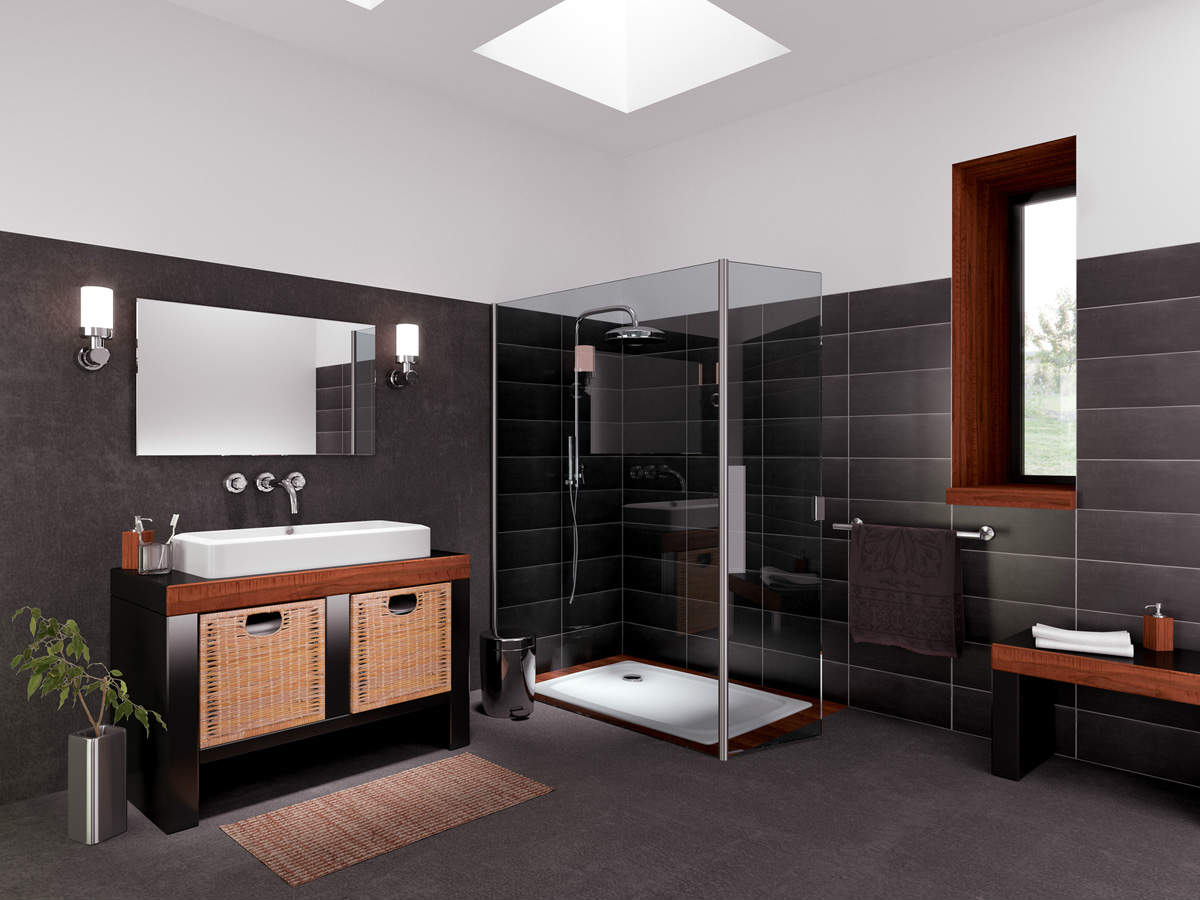le rev tement de sol pvc pour la salle de bain. Black Bedroom Furniture Sets. Home Design Ideas
