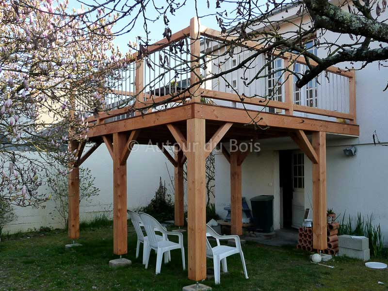 Agreable Faire Terrasse Bois Sur Pilotis Conception