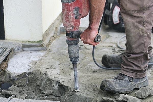 casser dalle beton