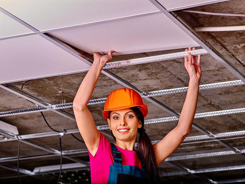 pose faux plafond suspendu