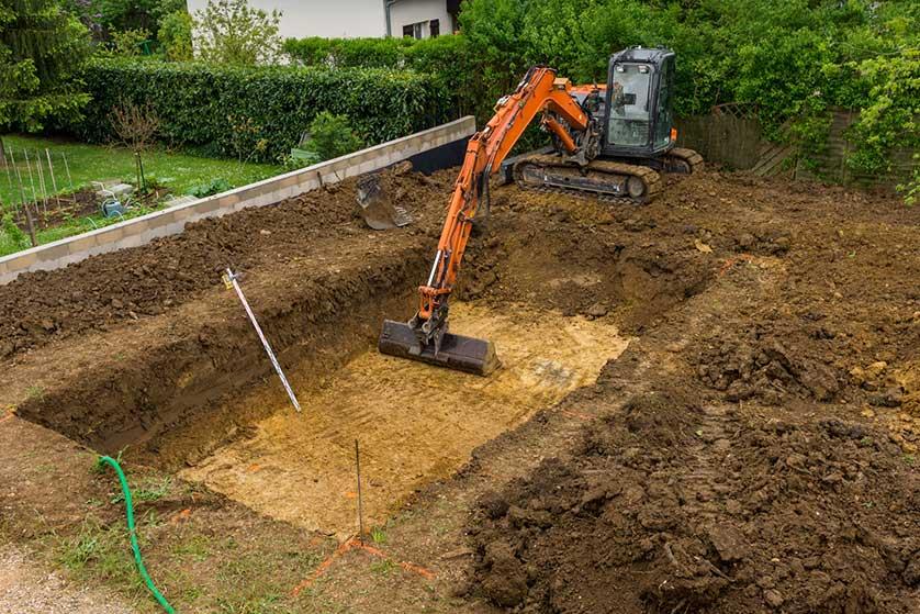 faire un decaissement au sol