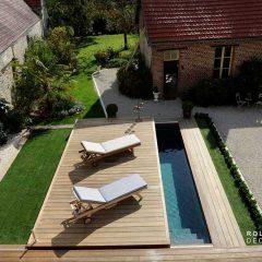 La terrasse mobile de piscine