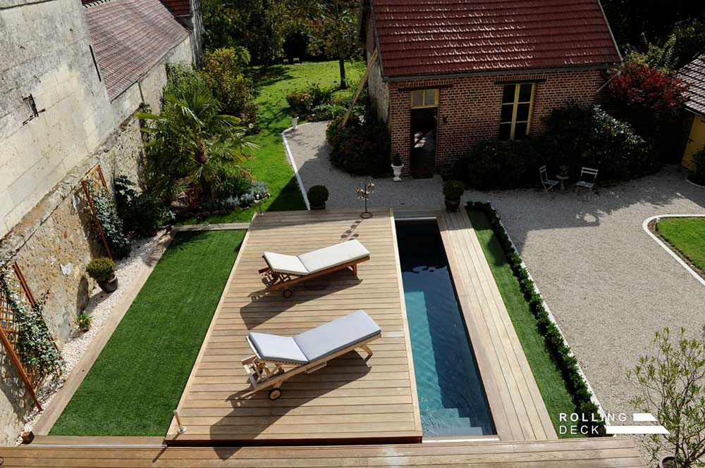 la terrasse mobile de piscine. Black Bedroom Furniture Sets. Home Design Ideas
