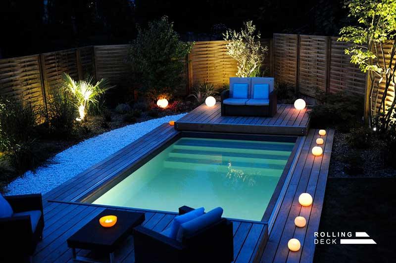 ouverture terrasse coulissante piscine