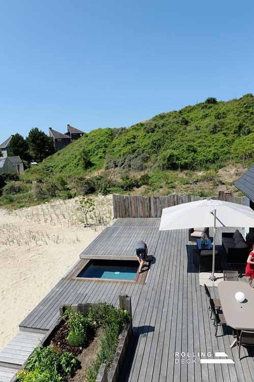 prix terrasse piscine rolling deck