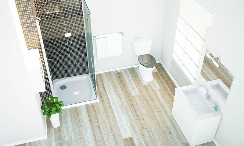prix sol plancher bois salle de bains