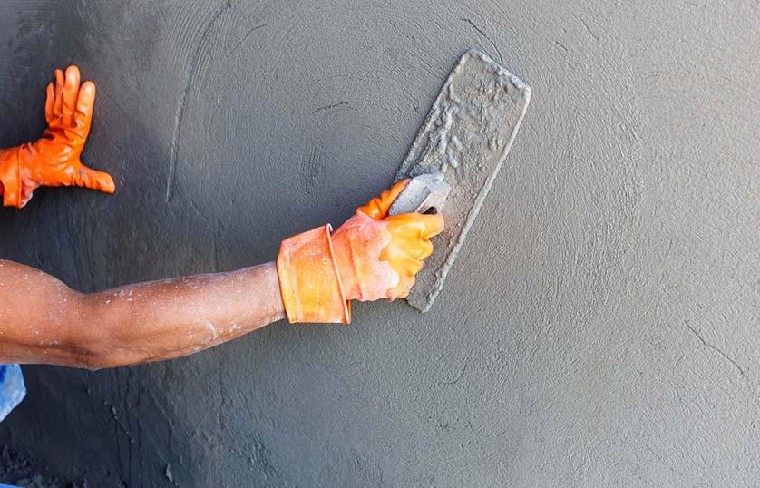 poser du beton mineral