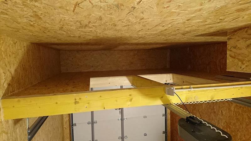 réaliser mezzanine garage