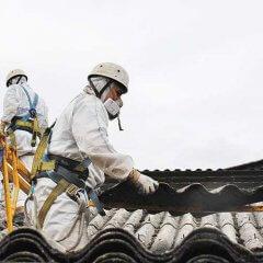 Toiture en fibro ciment: problème d'amiante
