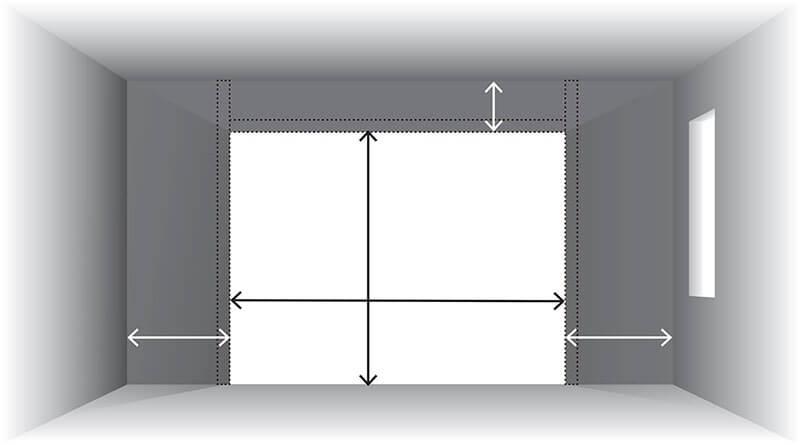 largeur hauteur porte garage
