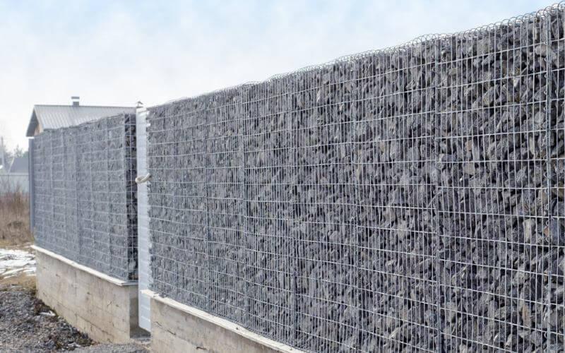 paramètres coûts clôture en gabion
