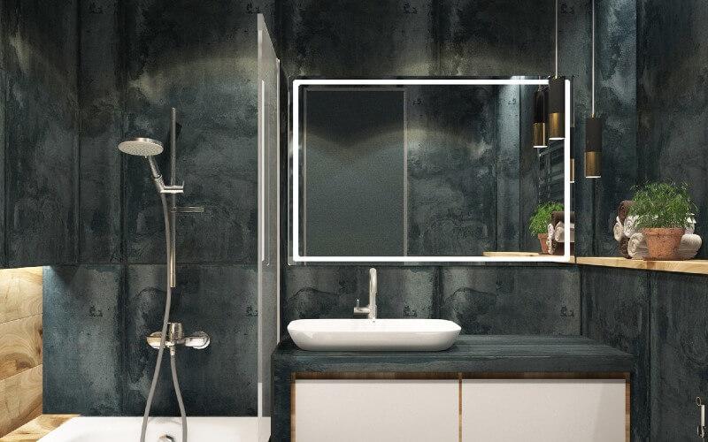 paramètres d'une installation de paroi de douche